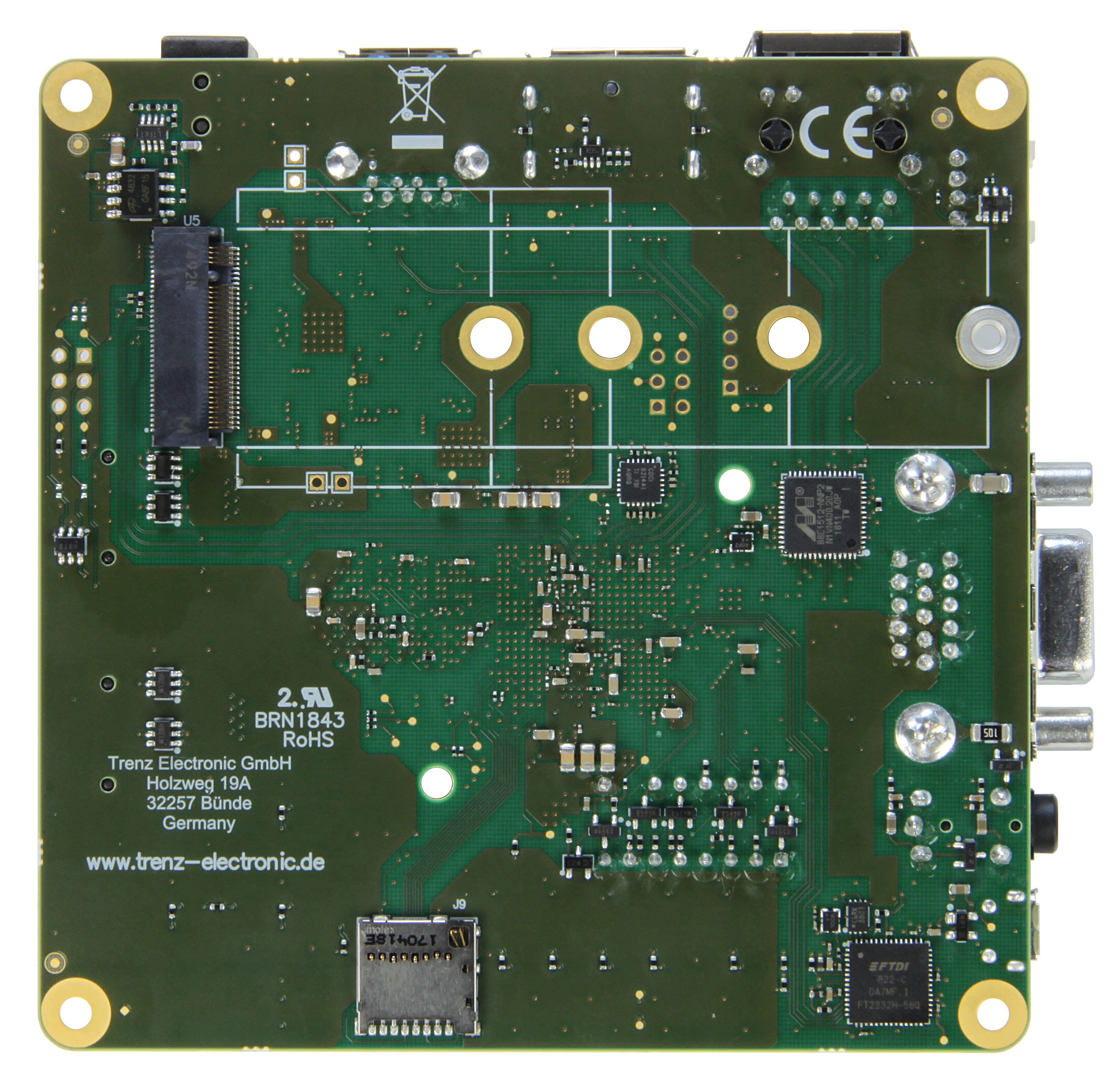 Mpsoc Module With Xilinx Zynq Ultrascale Zu4eg 1e 2 Gbyte Ddr4 5 Usb To Serial Port Controller Tusb3410 Integrated Circuit Components Te0802 01 2cg Bottom